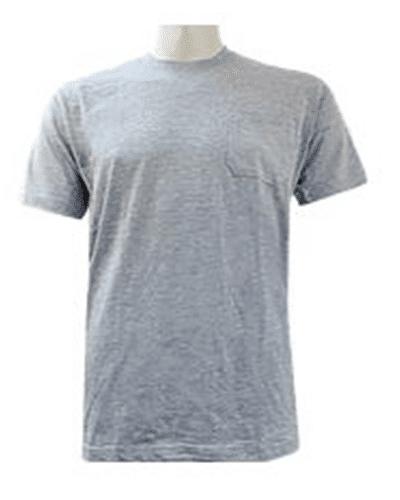 הדפסה על חולצה טריקו כיס אפורה